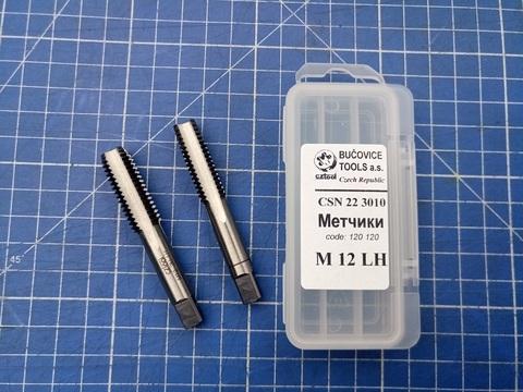 Метчик левый комплектный Bucovice 120120 ?SN 22 3010 LH M12х1,75мм 2шт