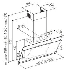 Вытяжка Korting KHC 97070 GW - схема