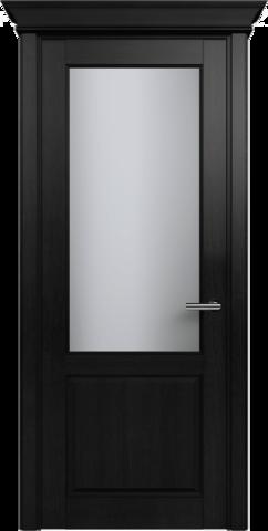 CLASSIC 521 Дуб Черный стекло Сатинато Белое