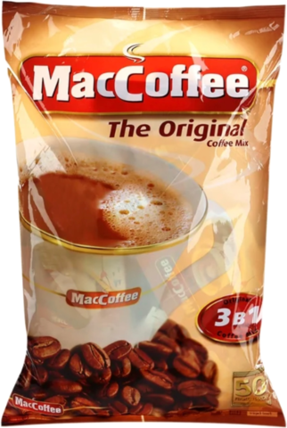 Растворимый кофе MacCoffee The Original 3 в 1, в пакетиках 50 штук