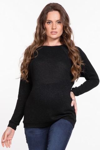 Джемпер для беременных и кормящих 11295 черный
