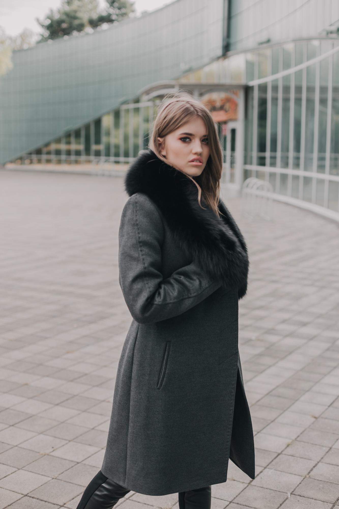Пальто женское Зима(Мех)