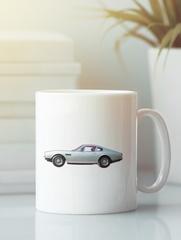 Кружка с рисунком Астон Мартин (Aston Martin) белая 0011