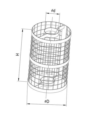 Сетка для камней «Ferrum» на трубу 115 мм