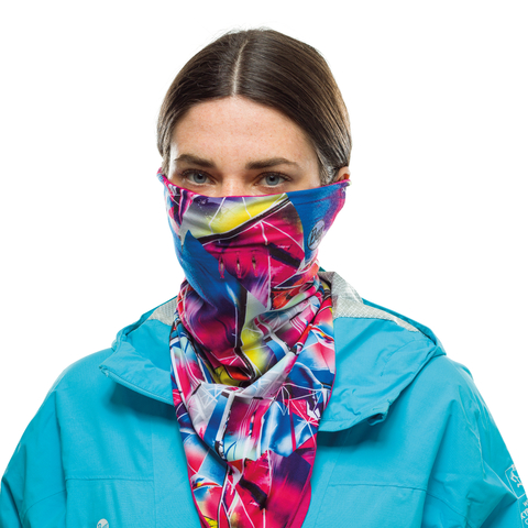 Бандана-шарф флисовая Buff Bandana Polar G-Mix Multi фото 2
