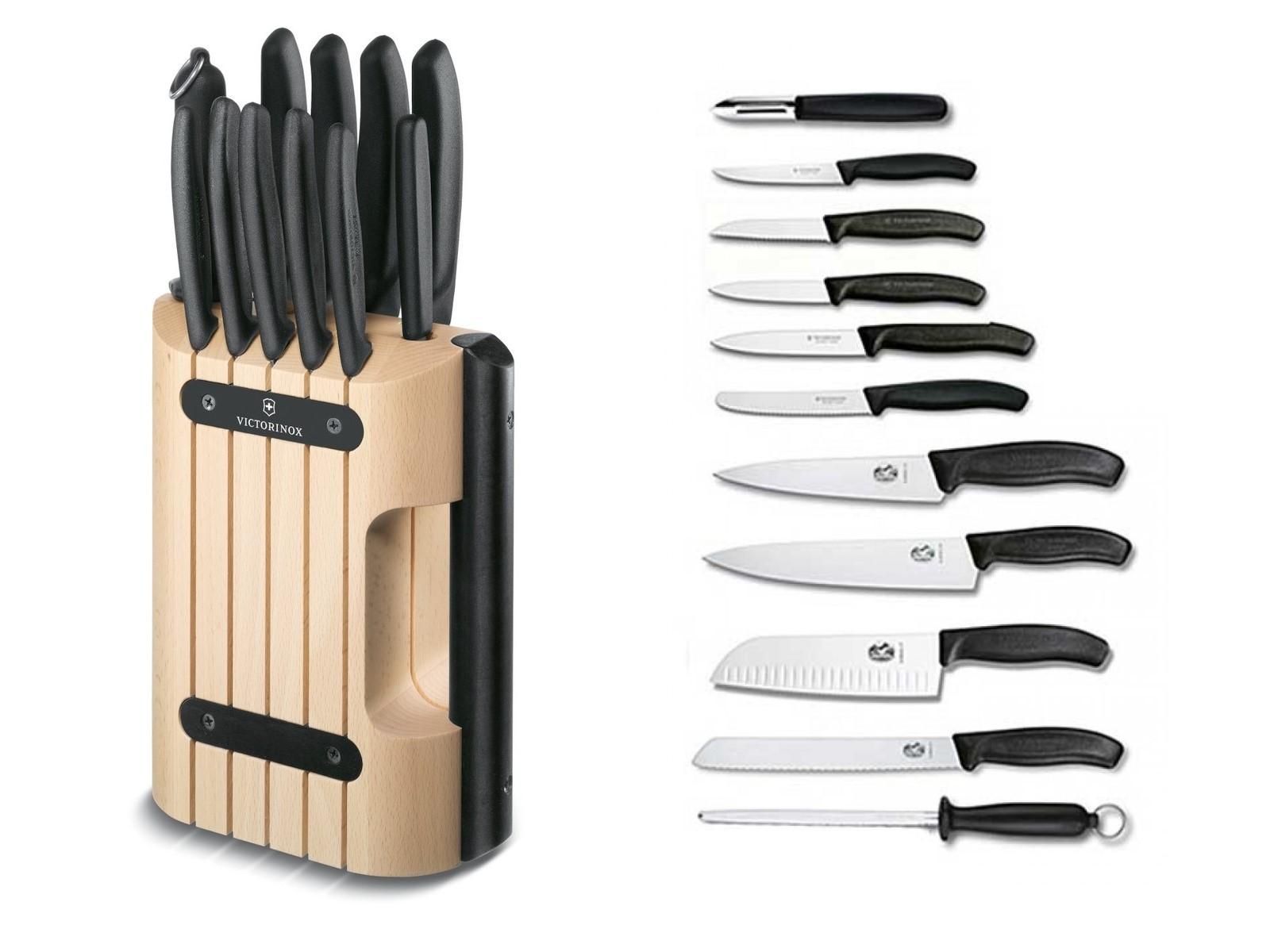 Кухонный набор Victorinox из 11 предметов в деревянной подставке (6.7153.11) - Wenger-Victorinox.Ru
