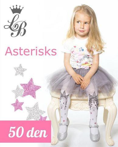 Колготки LB ASTERISKS (белый) 50 den
