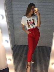 Красный летний костюм женский Nadya