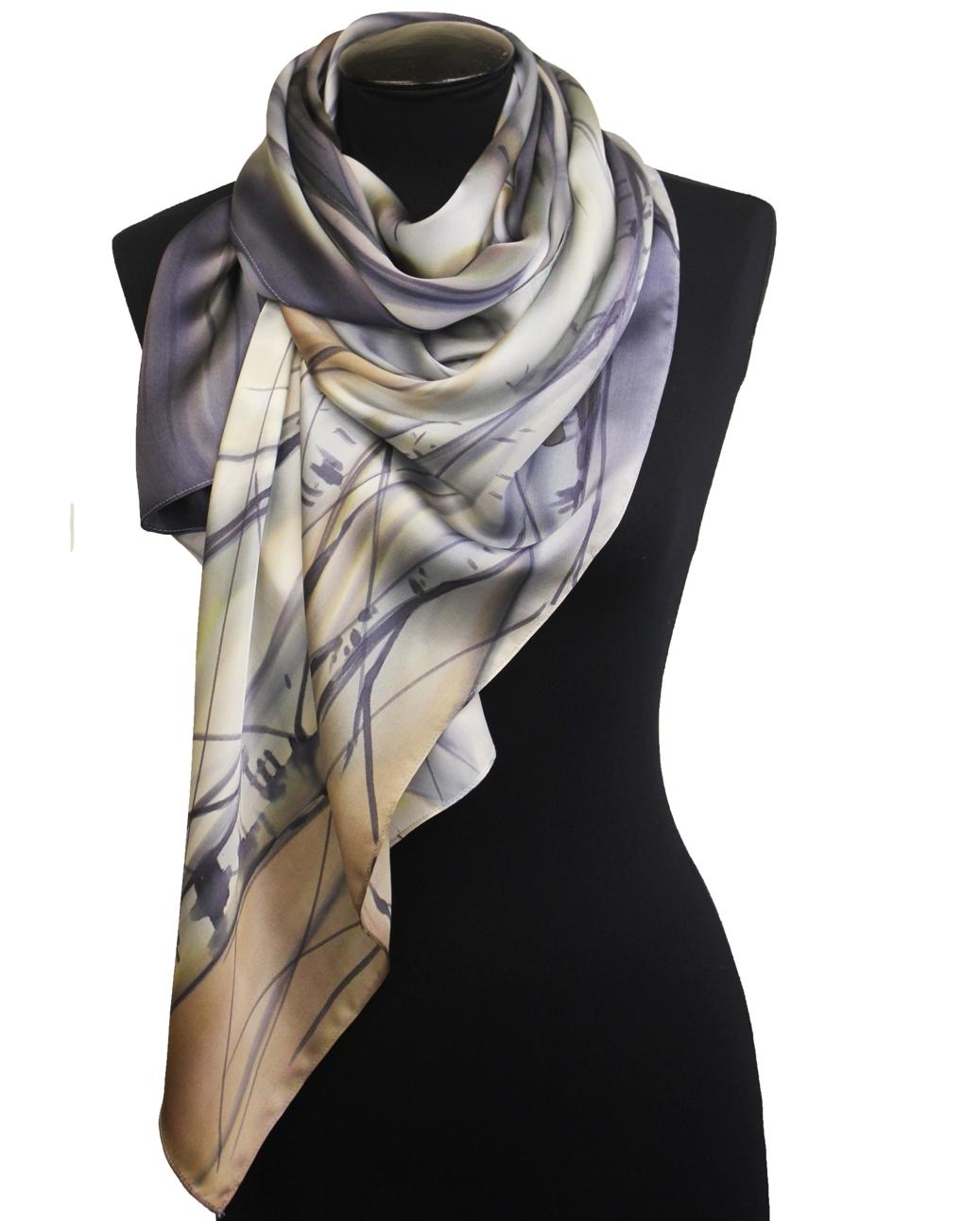 Шелковый шарф - атлас