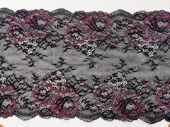 Набор 1. Минимальный: для пошива бра без каркасов и трусиков. Черный с цветами(Арт: EK-2120), шт