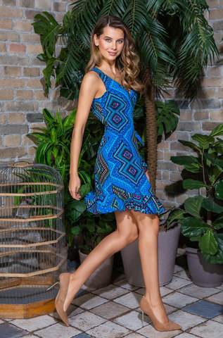 Платье домашнее пляжное MIA-MIA Jana 16430 синий