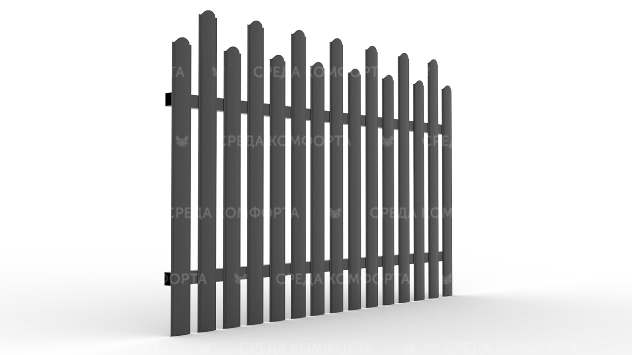 Забор из евроштакетника ZBR0048