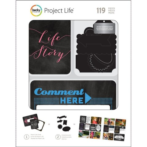 Kit набор карточек и украшений для Project Life 119шт