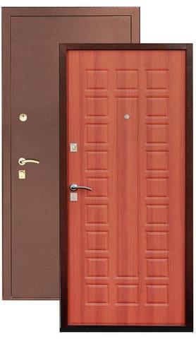 Дверь входная Сибирь S-2, 2 замка, 1,5 мм  металл, (медь+миланский орех)