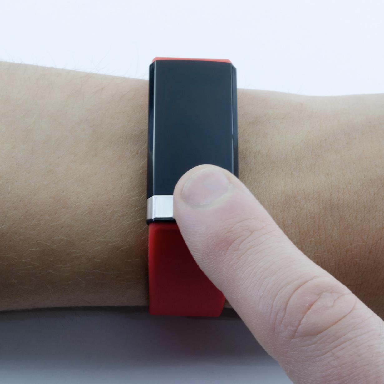 Профессиональный браслет здоровья с автоматическим измерением давления, пульса, кислорода, HRV, снятием ЭКГ и контролем аномального пульса  Biomer №19 (HB) (красный)