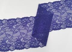 Эластичное кружево,20 см, синий с фиолетовым оттенком, (Арт: EK-2235), м