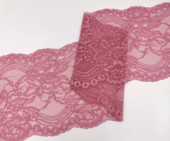 Эластичное кружево ОПТ, 22 см, фламинго, (Арт: EK-2243), м
