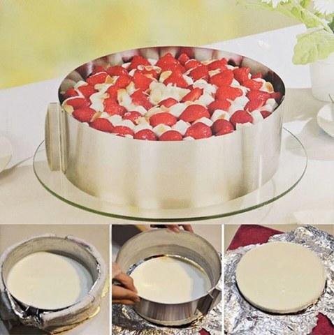 Раздвижное кольцо для торта (форма для выпечки) Cake Ring
