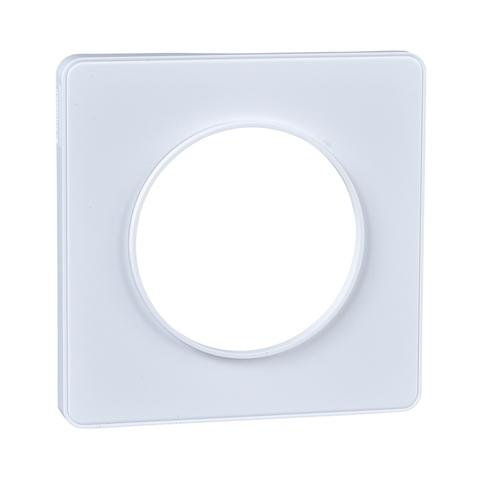 Рамка на 1 пост. Цвет Белый, белая вставка. Schneider Electric(Шнайдер электрик). Odace(Одес). S52P802