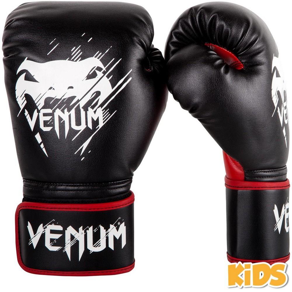 Перчатки Детские перчатки Venum Contender Kids Boxing Gloves Black/Red 1.jpg