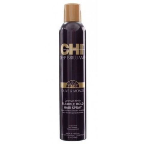 CHI Deep Brilliance: Лак для волос эластичной фиксации Оптимальный результат (Flexible Hold Hair Spray), 284г