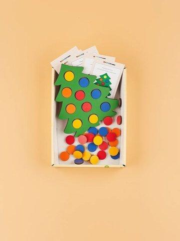 Мозаика Ёлочка нарядная с карточками RADUGA KIDS, 3+