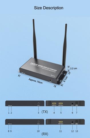 Удлинитель HDMI сигнала беспроводной 200 метров