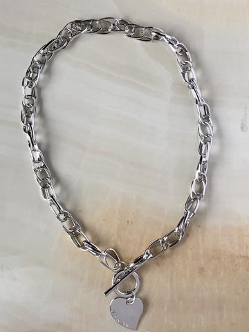 Колье Сиемпре, серебряный цвет