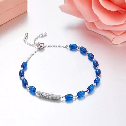 35692 -Браслет Bon Bon из серебра с синим кварцем в стиле APM MONACO