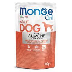 Паучи для собак Monge Dog Grill лосось