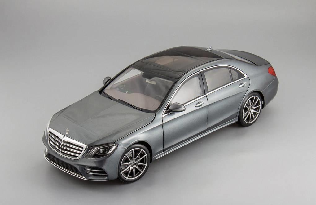 Коллекционная модель Mercedes-Benz W222 S-class Facelift 2017 Grey Metallic