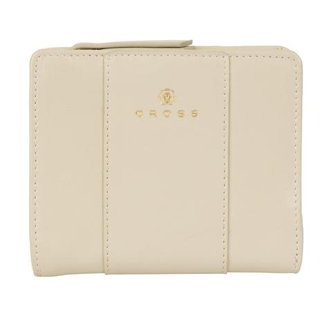 Женский кожаный компактный кошелёк 11х9,5х2см CROSS Kelly Wall Ivory AC928083_1-16