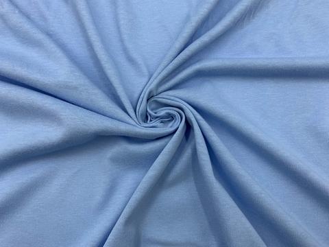 Хлопок кулирка голубое небо (метражом)