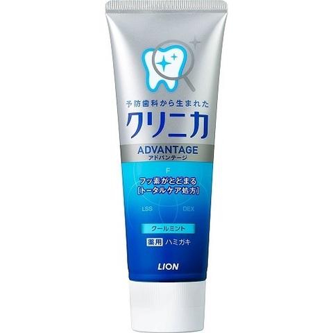 Зубная паста, Lion Япония, Clinica Advantage Cool mint, комплексного действия, Освежающая мята, 130 г