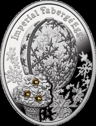 1 доллар. Яйцо Зимнее - Императорские яйца Фаберже. Ниуэ. 2012 г.