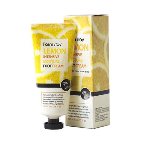 Интенсивный увлажняющий крем для ног Farm Stay Lemon Intensive Moisture Foot Cream