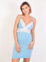 Евромама. Сорочка с кружевом для беременных и кормящих, голубой вид 1