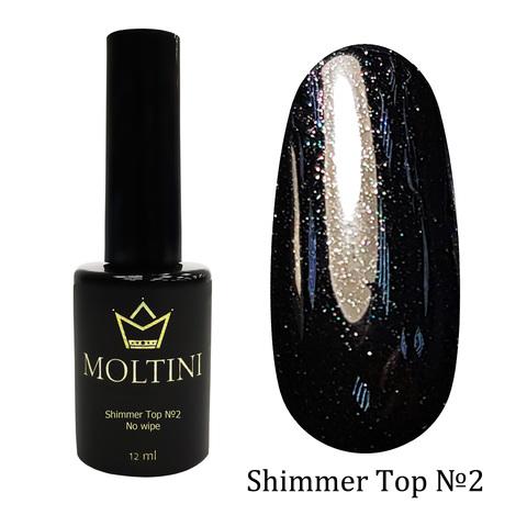 Топ с шиммером без липкого слоя Moltini Shimmer Top №2, 12 ml