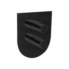 Встраиваемый термостатический смеситель для душа TZAR 348712SNM черный, на 2 выхода