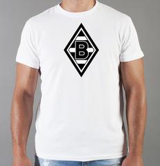 Футболка с принтом FC Borussia Dortmund (ФК Боруссия) белая 004