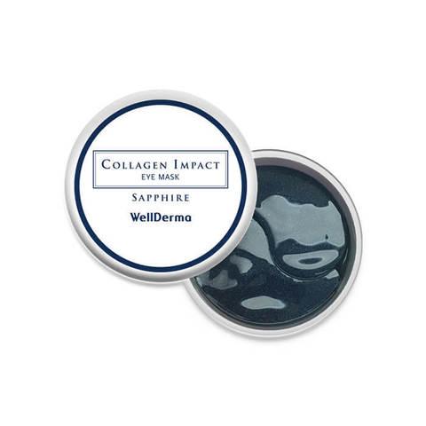 WellDerma Collagen Impact Sapphire Eye Mask увлажняющие патчи с морским коллагеном