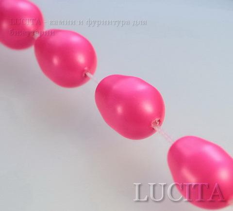 5821 Хрустальный жемчуг Сваровски Crystal Neon Pink грушевидный 11х8 мм ()