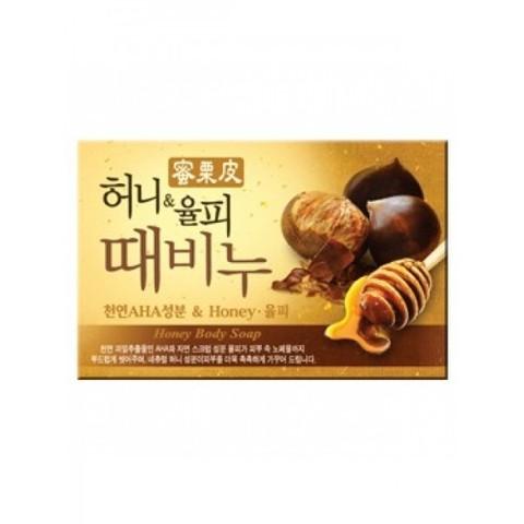 MUKUNGHWA Soap Мыло-скраб мед и каштан, 100 гр Honey & Chestnut Scrub Soap 100g