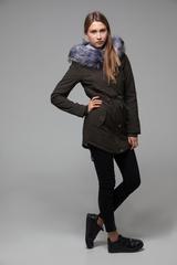 Куртка парка с меховым капюшоном интернет магазин