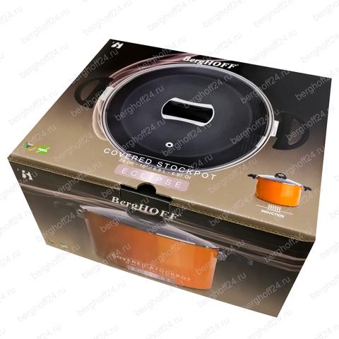 Кастрюля с крышкой 24см 6,6л (оранжевая) Eclipse