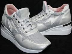 Обувь на лето женская Topas 4C-8045 Silver.