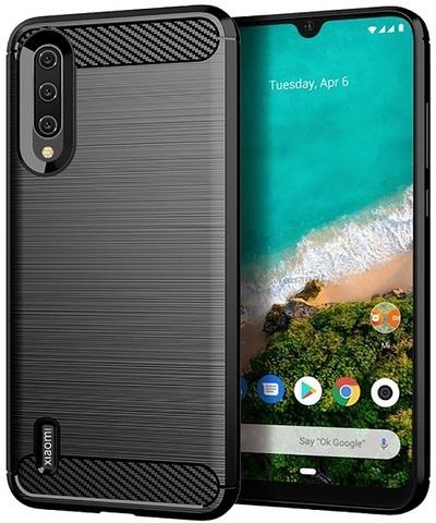 Чехол для Xiaomi Mi 9 Lite (A3 Lite, CC9) цвет Black (черный), серия Carbon от Caseport