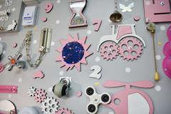 Бизиборд ГИГАНТ 100х60 см Розовый для девочки
