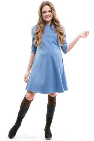 Платье для беременных 10339 синий