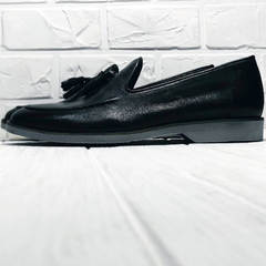Модные туфли лоферы для мужчин Luciano Bellini 91178-E-212 Black.